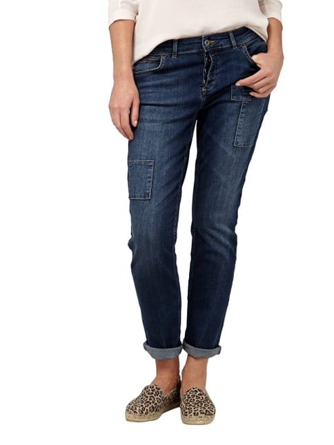 Jake*s Boyfriend Jeans mit Patches Jeans - 1