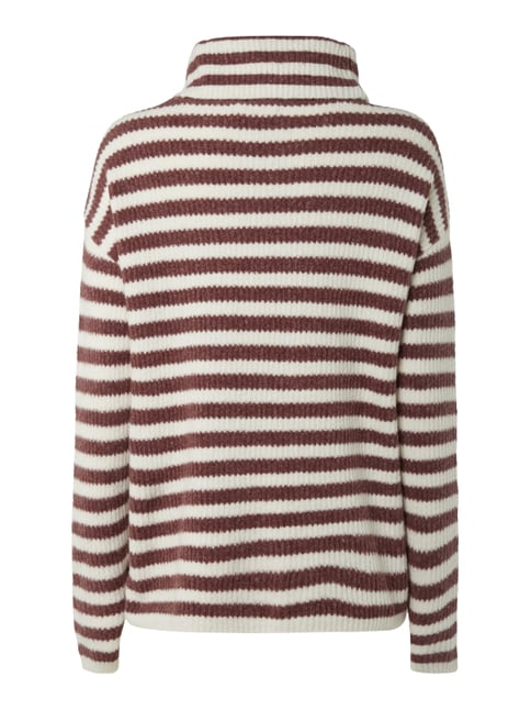 Jake*s Pullover mit Streifenmuster Bordeaux Rot - 1