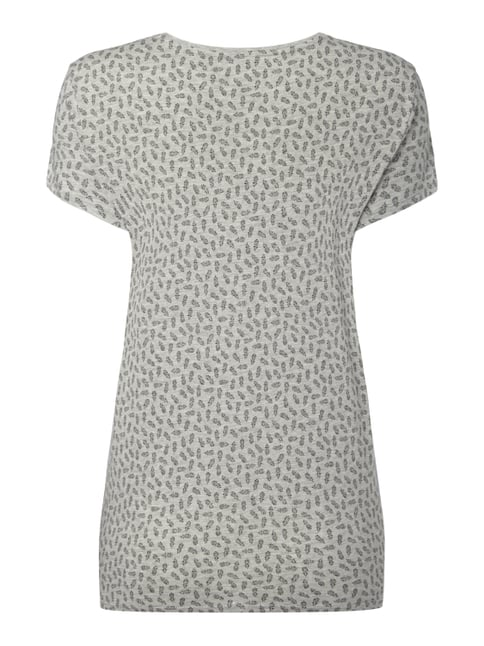 Jake*s T-Shirt mit Allover-Muster Silber meliert - 1