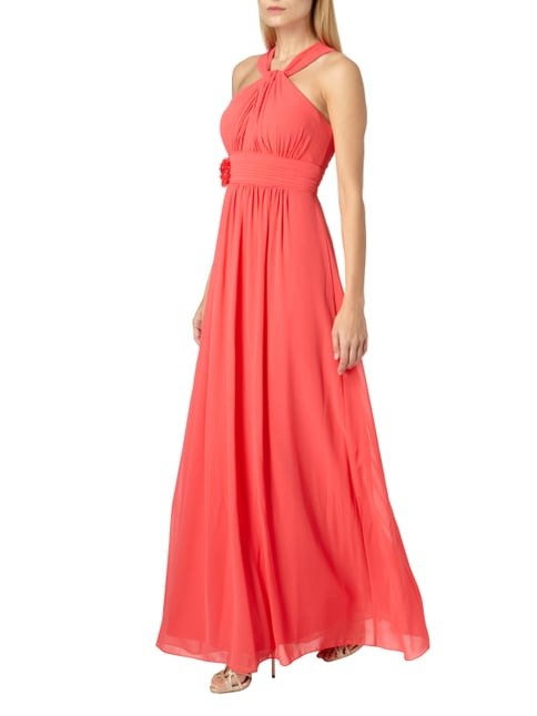 Jake*s Cocktail Abendkleid mit Blüten-Applikation in Rosé - 1