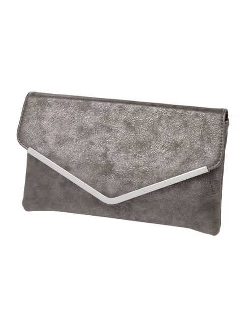 Clutch in Metallicoptik Braun - 1