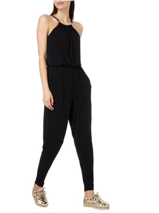 Jake*s Cocktail Jumpsuit mit Metall-Applikation in Grau / Schwarz - 1