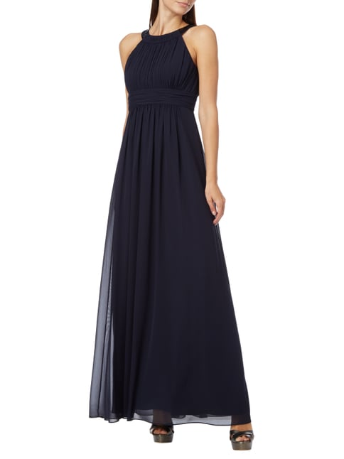 Jake*s Cocktail Two-Tone-Abendkleid aus Chiffon in Blau / Türkis - 1