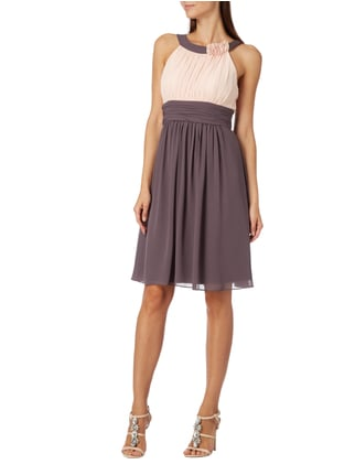 Jake*s Cocktail Two-Tone-Kleid mit Collierkragen in Braun - 1