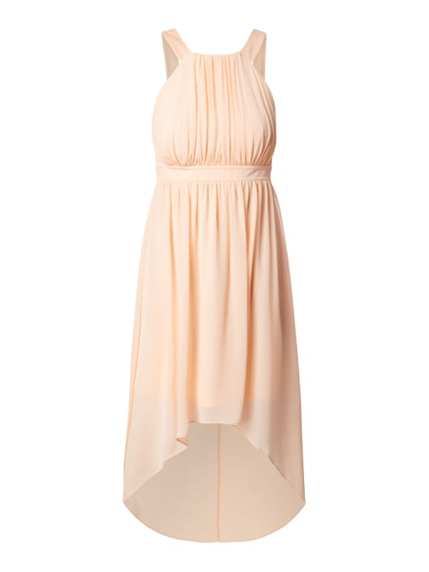 Vokuhila Cocktailkleid aus Chiffon Orange - 1
