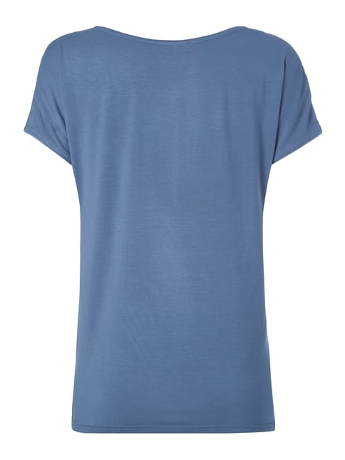 Jake*s Collection Blusenshirt mit Vorderseite aus Seide Bleu - 1