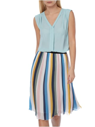 Jake*s Collection Blusentop aus Chiffon Aqua Blau - 1