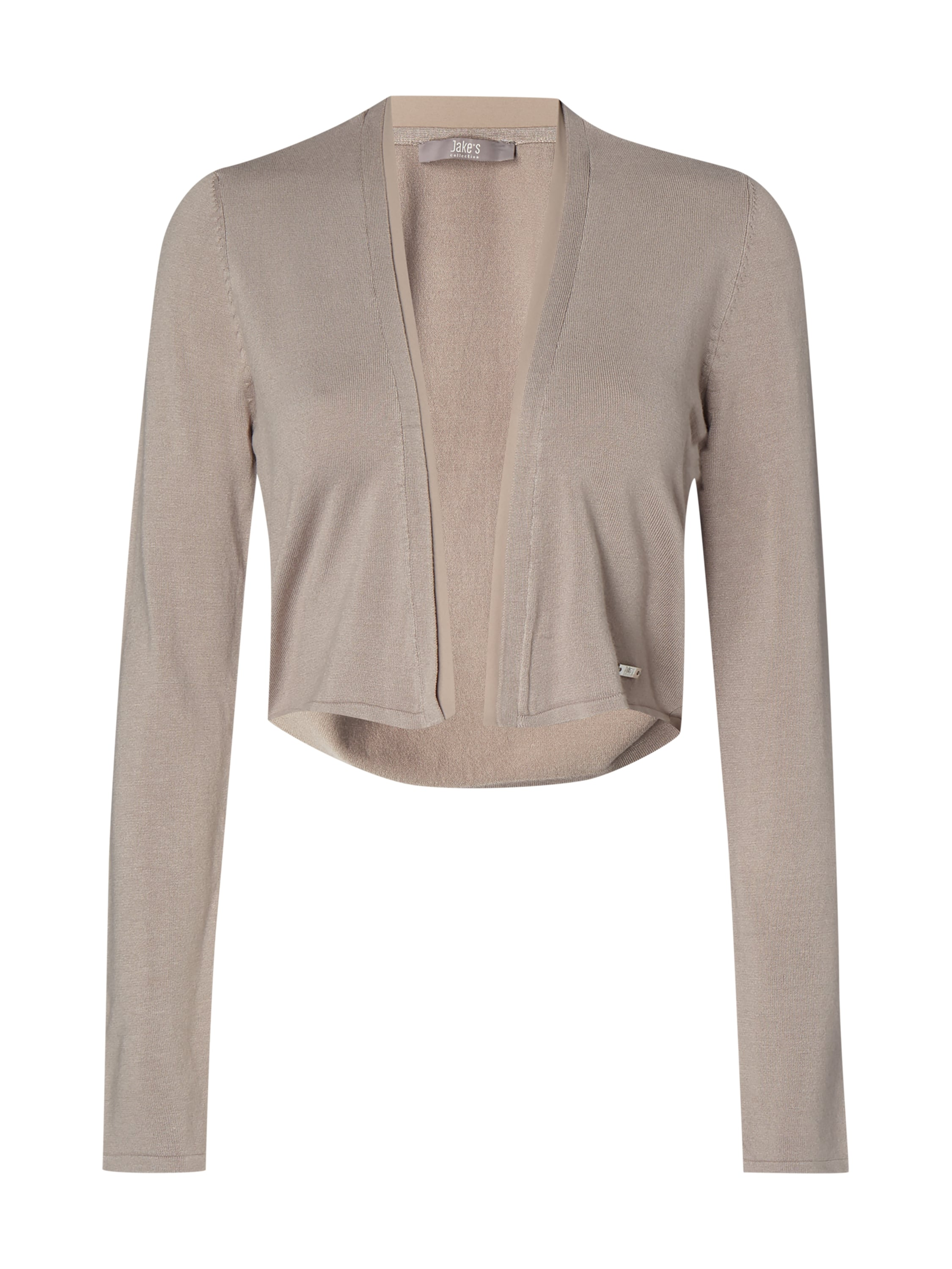 Jake*s Collection Bolero mit offener Vorderseite - Taupe