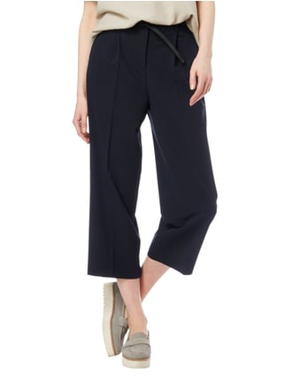 Jake*s Collection Culotte mit Gürtel Marineblau - 1