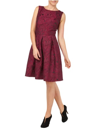 Jake*s Collection Kleid mit floralem Muster in Rot - 1