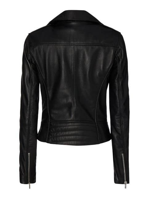 Jake*s Collection Lederjacke im Biker-Look Schwarz - 1