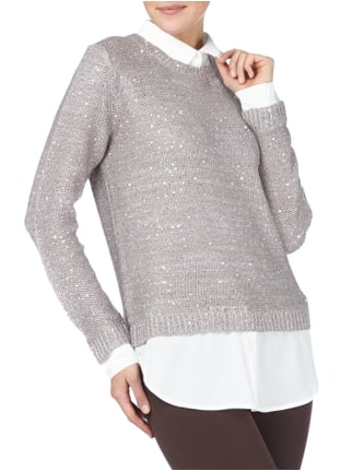Jake*s Collection Pullover im 2-in-1-Look Mittelgrau - 1