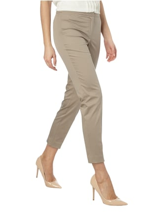 Jake*s Collection Stoffhose mit Stretch-Anteil Taupe - 1