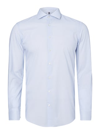 Slim Fit Business-Hemd mit Allover-Muster Blau / Türkis - 1