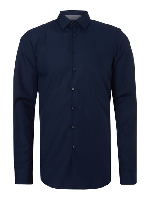 Slim Fit Business-Hemd mit extralangem Arm Blau / Türkis - 1