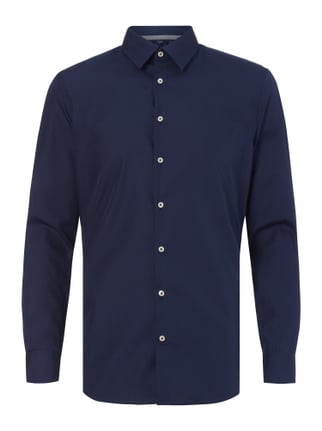Slim Fit Business-Hemd mit New Kent Kragen Blau / Türkis - 1