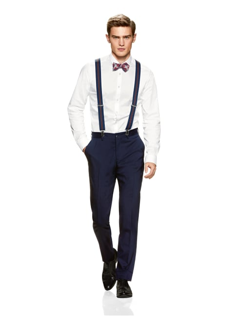 Jake*s Super Slim Fit Business-Hemd mit Stretch-Anteil Weiß - 1