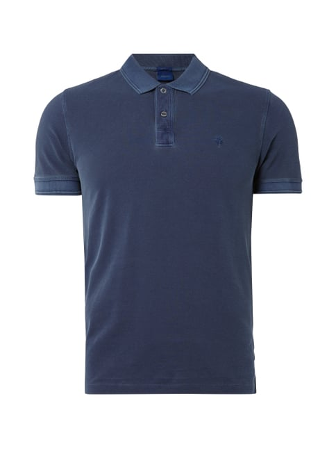 Poloshirt im Washed Out-Look Blau / Türkis - 1