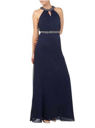 Jora Collection Abendkleid aus Chiffon in Blau / Türkis - 1