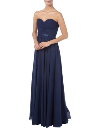 Jora Collection Abendkleid mit Schnürung in Blau / Türkis - 1