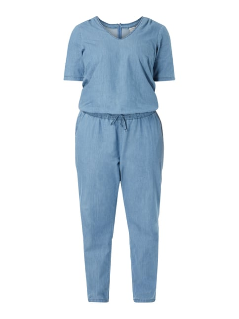 PLUS SIZE - Jumpsuit aus Denim Blau / Türkis - 1