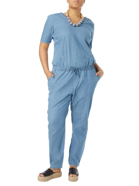 Junarose PLUS SIZE - Jumpsuit aus Denim in Blau / Türkis - 1