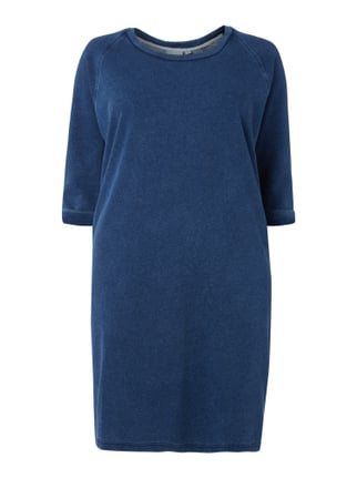 PLUS SIZE - Sweatkleid im Washed Out Look Blau / Türkis - 1