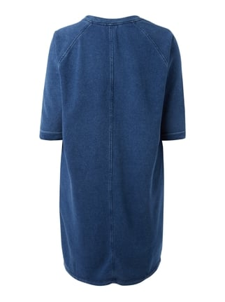 Junarose PLUS SIZE - Sweatkleid im Washed Out Look Blau - 1