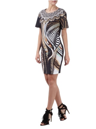 Just Cavalli Kleid mit Allover-Muster in Grau / Schwarz - 1