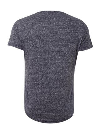 Key Largo T-Shirt in Melangeoptik Dunkelblau - 1