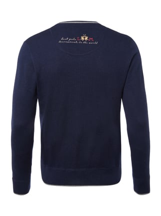 La Martina Regular Fit Pullover mit Logo-Stickereien Dunkelblau - 1