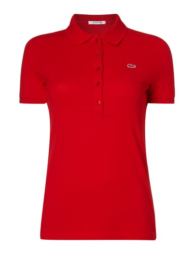 lacoste poloshirt aus piqu in rot online kaufen 9580163. Black Bedroom Furniture Sets. Home Design Ideas