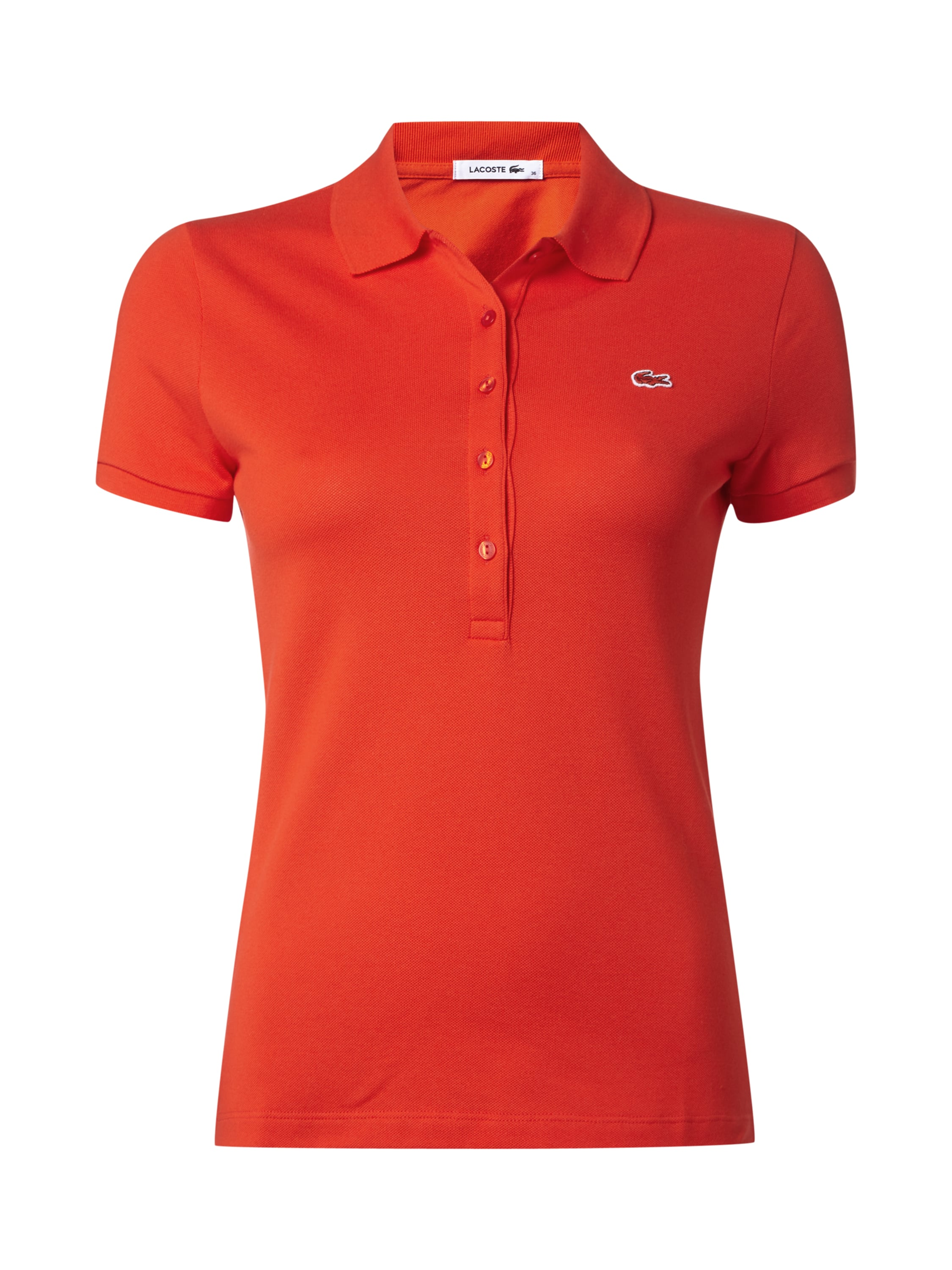 lacoste poloshirt mit logo aufn her in rot online kaufen 9398679 p c online shop. Black Bedroom Furniture Sets. Home Design Ideas