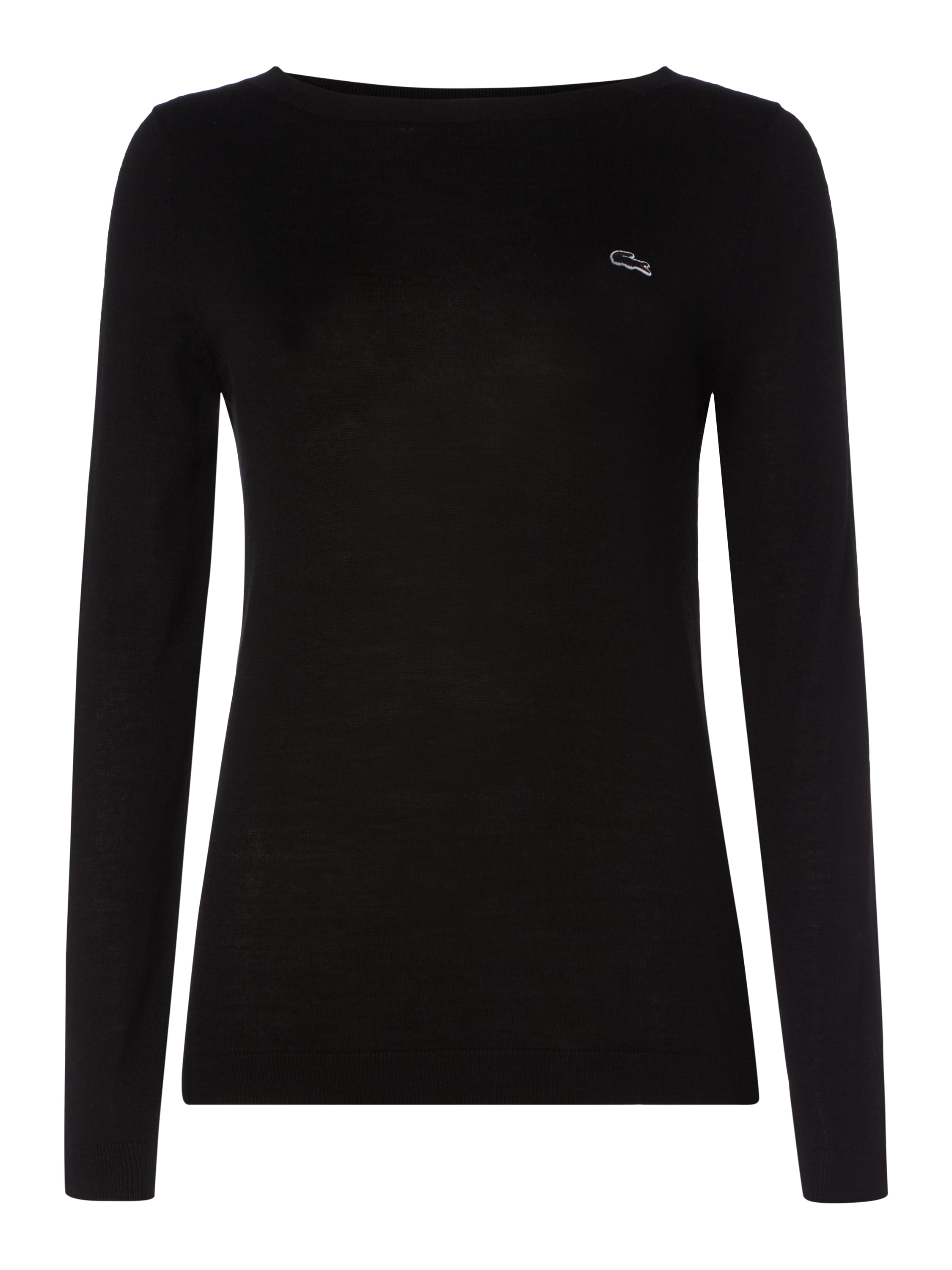 lacoste pullover aus reiner schurwolle in grau schwarz online kaufen 9506465 p c online shop. Black Bedroom Furniture Sets. Home Design Ideas