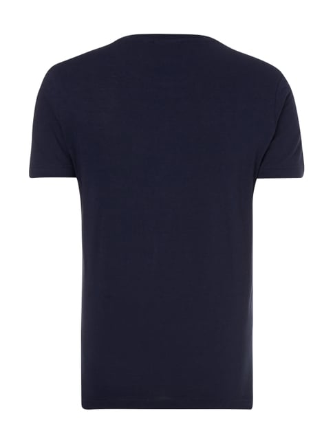 Lacoste Regular Fit T-Shirt aus Baumwolle Marineblau - 1