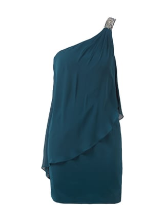 Cocktailkleid aus Chiffon im Double-Layer-Look Blau / Türkis - 1