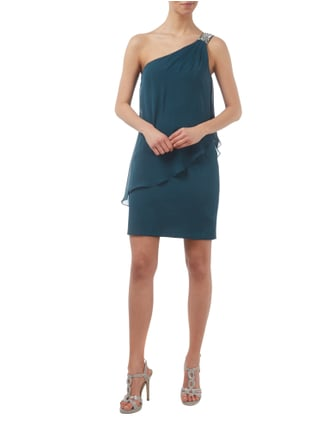 Laona Cocktailkleid aus Chiffon im Double-Layer-Look in Blau / Türkis - 1