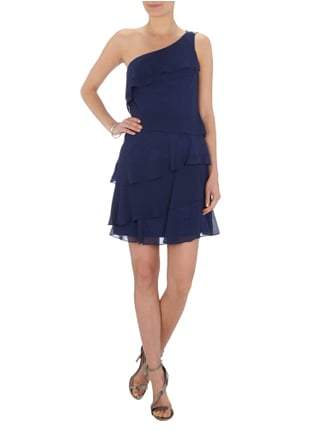 Laona One-Shoulder-Cocktailkleid im Stufen-Look in Blau / Türkis - 1
