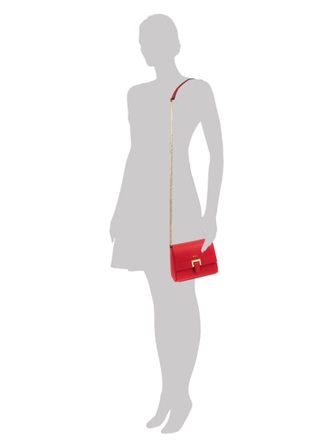 Lauren Ralph Lauren Crossbody Bag mit Kettenriemen in Rot - 1