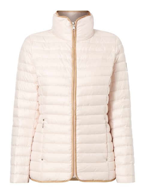 Light-Daunenjacke mit Steppnähten Rosé - 1