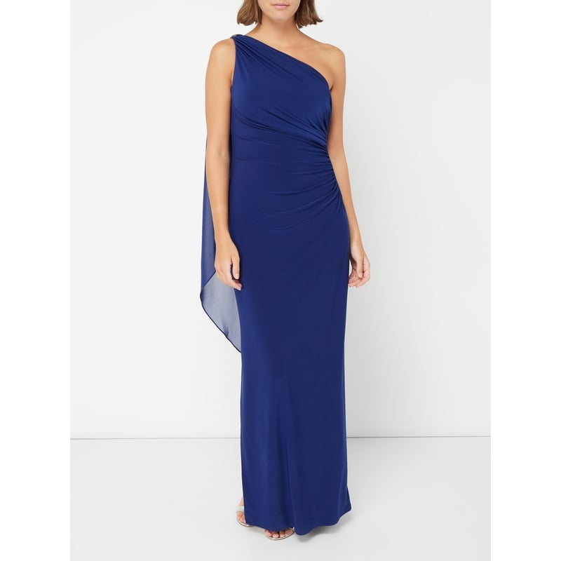 RALPH LAUREN One-Shoulder-Kleid mit Volantbesatz