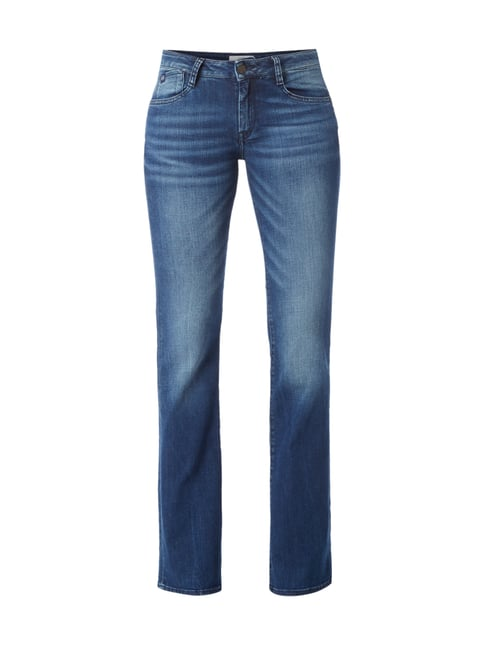 Flared Cut Jeans im Stone Washed Look Blau / Türkis - 1