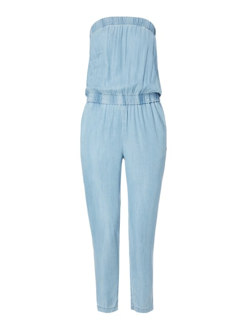 Off Shoulder Jumpsuit aus Lyocell Blau / Türkis - 1