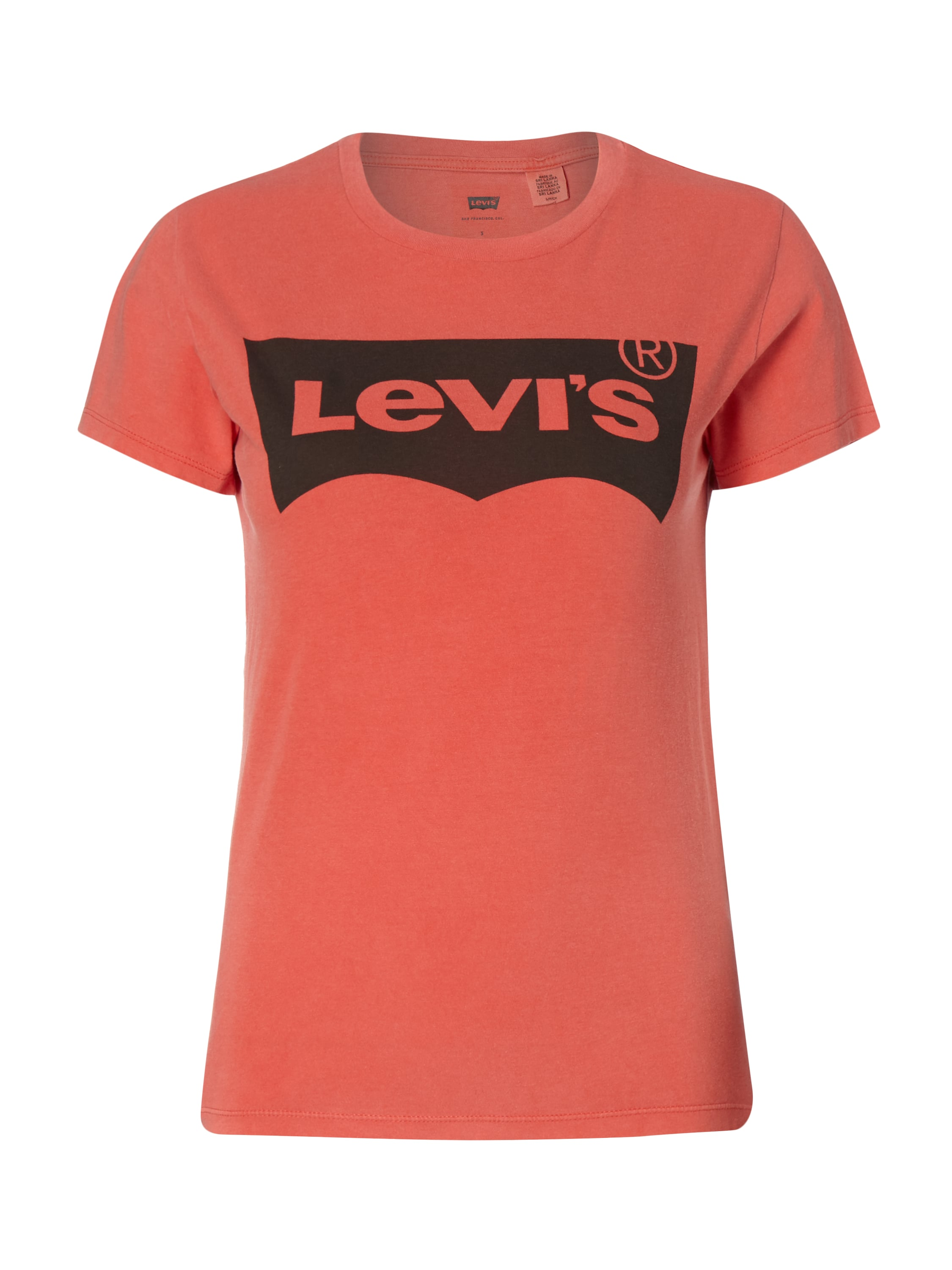 Levi s t shirt mit logo print in rot online kaufen for Shirts with logo print