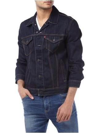 Levi's® Jeansjacke im One Washed Look Dunkelblau - 1