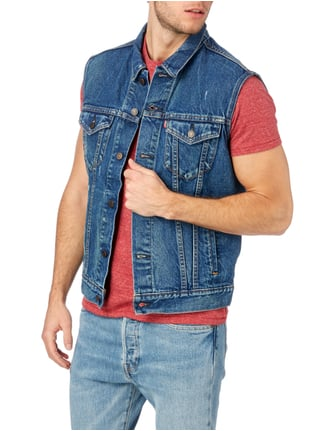 Levi's® Jeansweste im Used Look Blau - 1