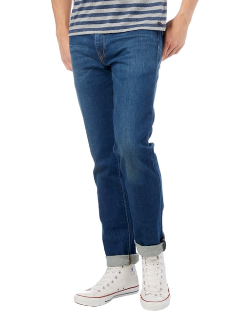 Levi's® Rinsed Washed Slim Fit 5-Pocket-Jeans Dunkelblau - 1