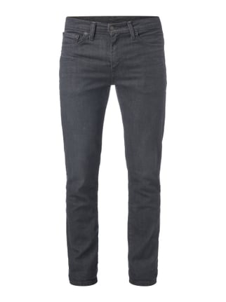 Rinsed Washed Slim Fit Jeans mit Stretch-Anteil Grau / Schwarz - 1
