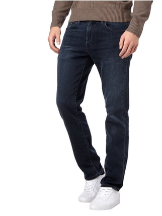 Levi's® Stone Washed Slim Fit 5-Pocket-Jeans Dunkelblau - 1