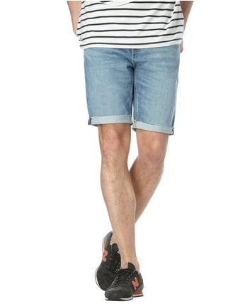 Levi's® Stone Washed Slim Fit Jeansbermudas Blau - 1